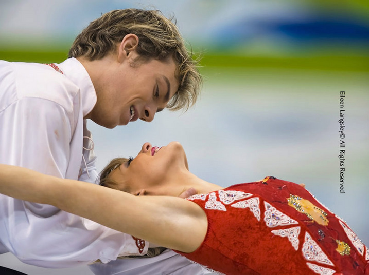Penny Coomes and Nick Buckland (Great Britain) performing their original dance during the skating competition of the 2010 Vancouver Winter Olympic Games.