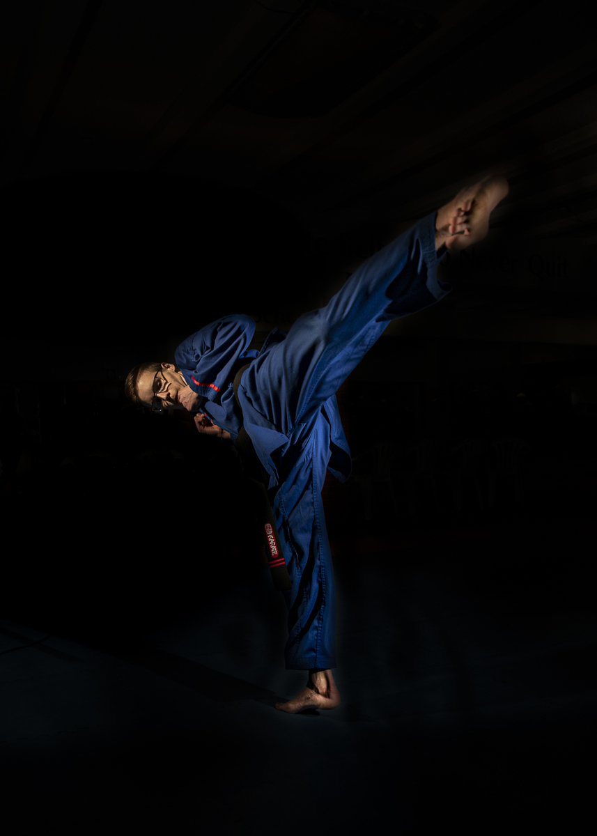Channelling my #karatekid fantasy with this shot. #karate #creativelight