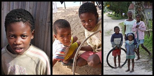 Everywhere in Madagascar you will come across smiling happy children looking for a photo op.