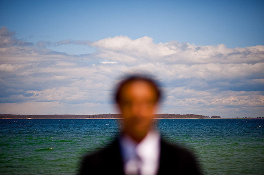 """Sag Harbor"" author Colson Whitehead, stands on a beach near where he spent his summers as a child, in a small  African-American community called Azurest in Sag Harbor, NY on the Eastern End of Long Island"