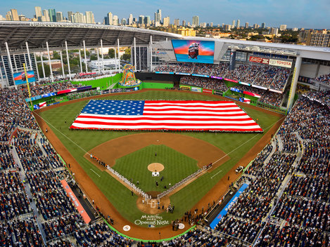 Florida Marlins opening night