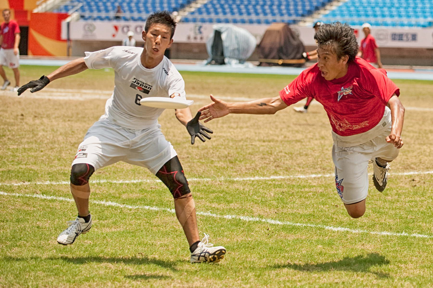 USA and Japan compete in Ultimate Frisbee Flying Disc competition, World Games, Kaohsiung, Taiwan, July 21, 2009