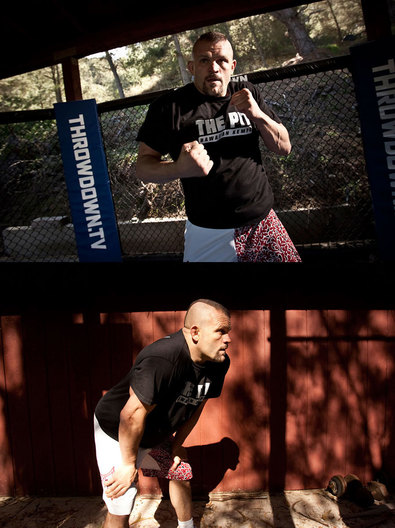 Ultimate Fighting Champion Chuck Liddell, photographed at 'The Pit',  a strict boot - camp style training facility for UFC fighters, near San Luis Obispo, Ca., February 20 2007.