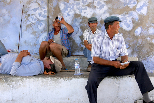Mule Drivers - Santorini, Greece