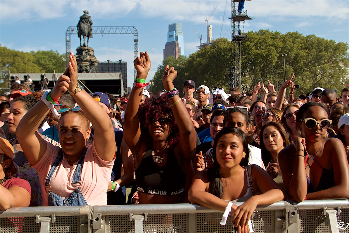 Made In America Rocky Stage Benjamin Franklin Parkway  Philadelphia, PA September 4, 2016  Made In America Benjamin Franklin Parkway  Philadelphia, PA September 4, 2016  DerekBrad.com