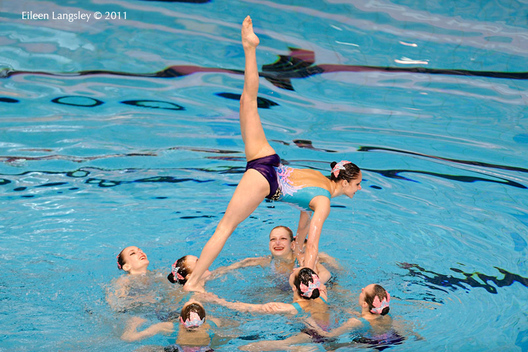 The group from Belarus compete in the Team section of the European Synchro Champions Cup in Sheffield May 2011.