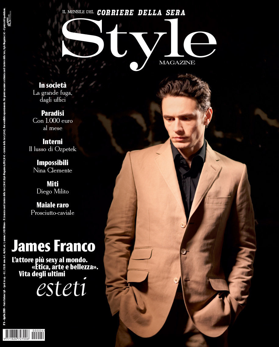 James Franco for Corriere Della Sera 'Style' magazine (Italy)