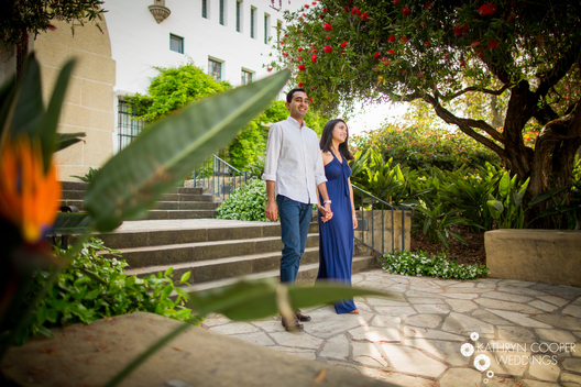 Indian engagement photographer at Santa Barbara Courthouse - Kathryn Cooper Weddings Katherine Cooper Weddings