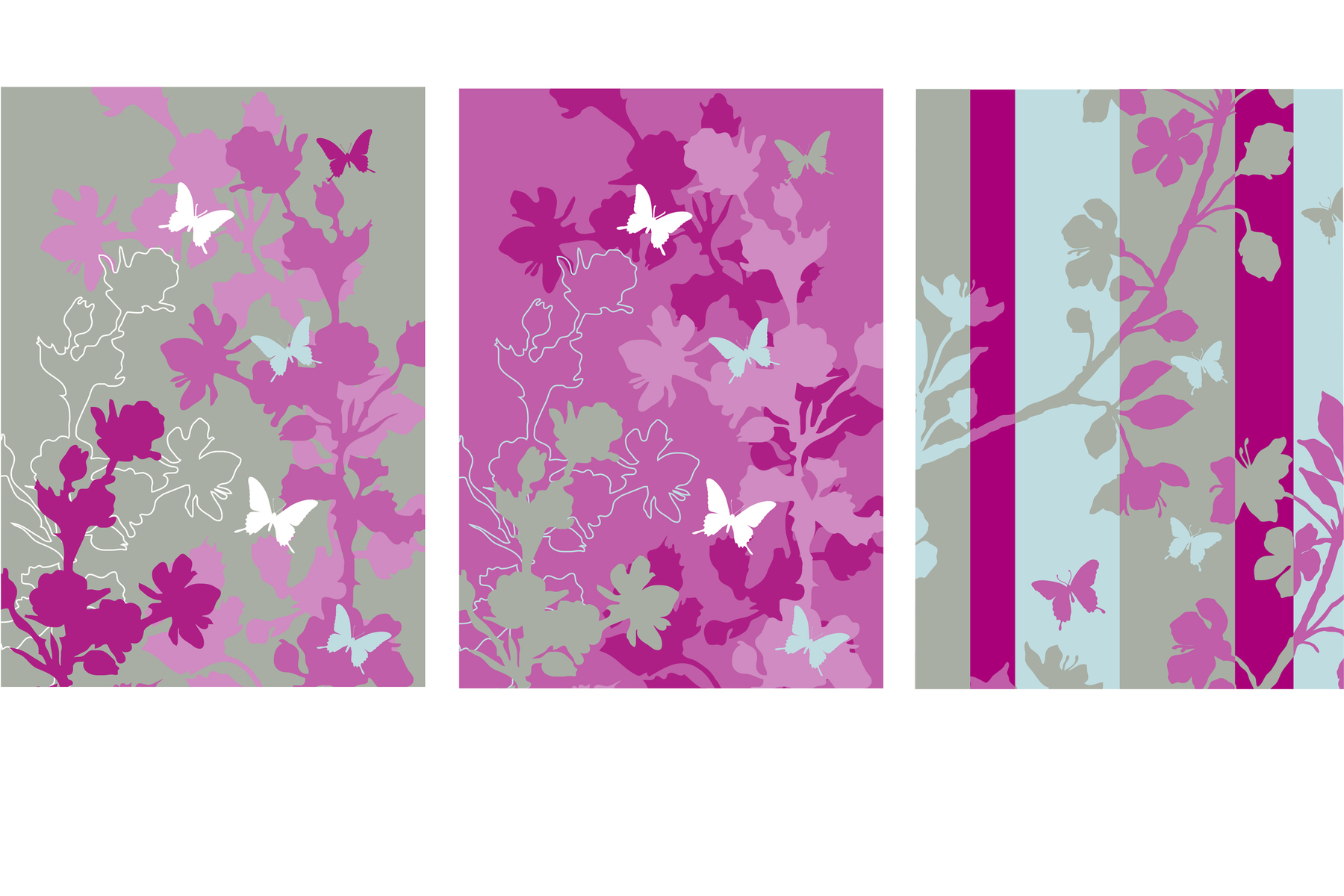 Surface patterns for a range of Blossom stationery.