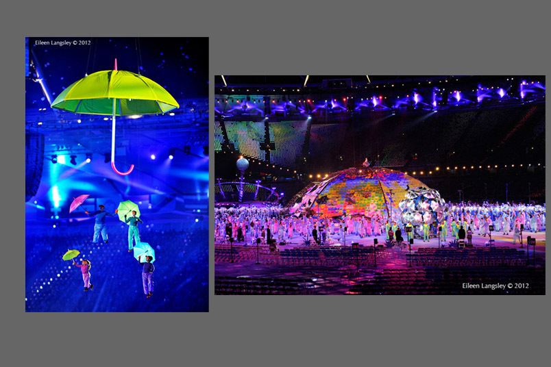 A colourful Opening ceremony at the London 2012 Paralympic Games.