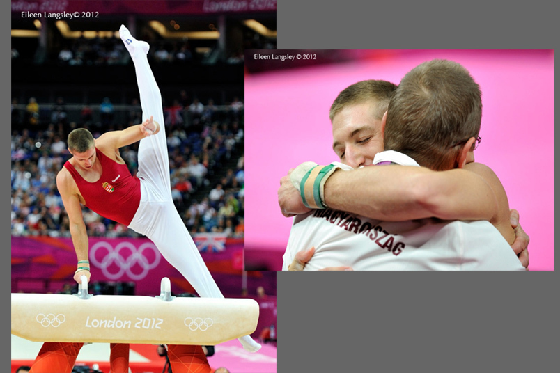 Kristian Berki (Hungary) during his gold medal routine on Pommel Horse at the 2012 London Olympic Games.