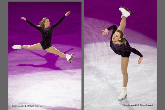 Joannie Rochette (Canada) performs an artistic routine at the exhibition for the Figure Skating competition at the 2010 Winter Olympic Games in Vancouver.