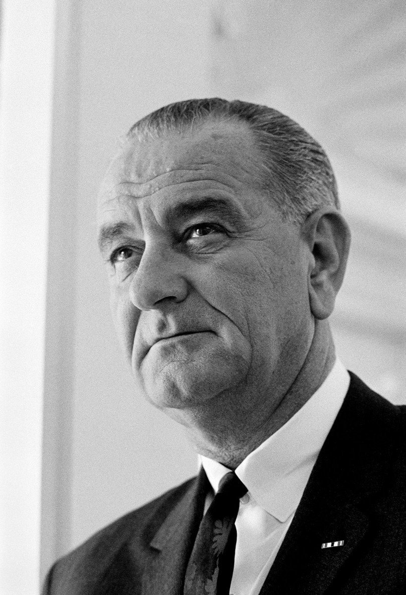 Official LBJ portrait used by the Democratic National Commitee as backdrop at 1964 Convention in Atlantic City, NJ