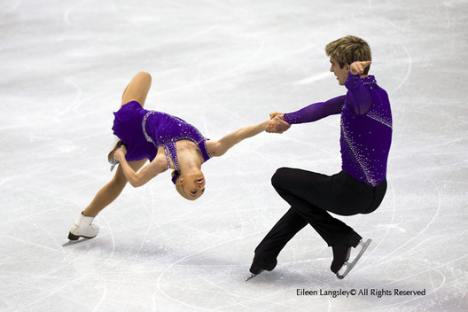 Stacey Kemp and David King (Great Britain) competing in the short programme of the Pairs Figure Skating competition at the 2010 Vancouver Winter Olympic Games.
