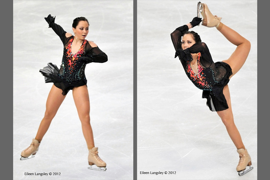 Elizaveta Tuktamuysheva (Russia) competing in the long programme at the 2012 ISU Grand Prix Trophy Eric Bompard at the Palais Omnisports Bercy