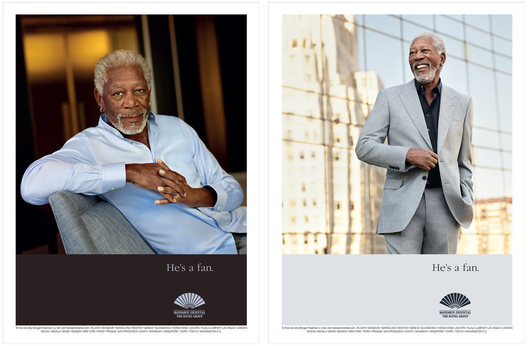 Morgan Freeman for the Mandarin Oriental