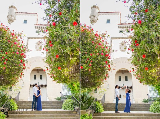 Santa Barbara wedding photographer Kathryn Cooper Weddings - couple at courthouse
