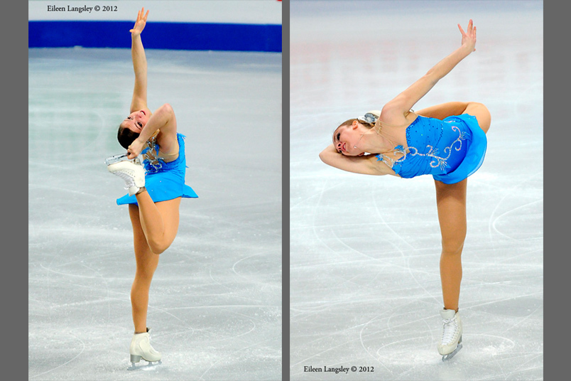 Francesca Rio (Italy) competing her short programme at the 2012 European Figure Skating Championships at the Motorpoint Arena in Sheffield UK January 23rd to 29th.