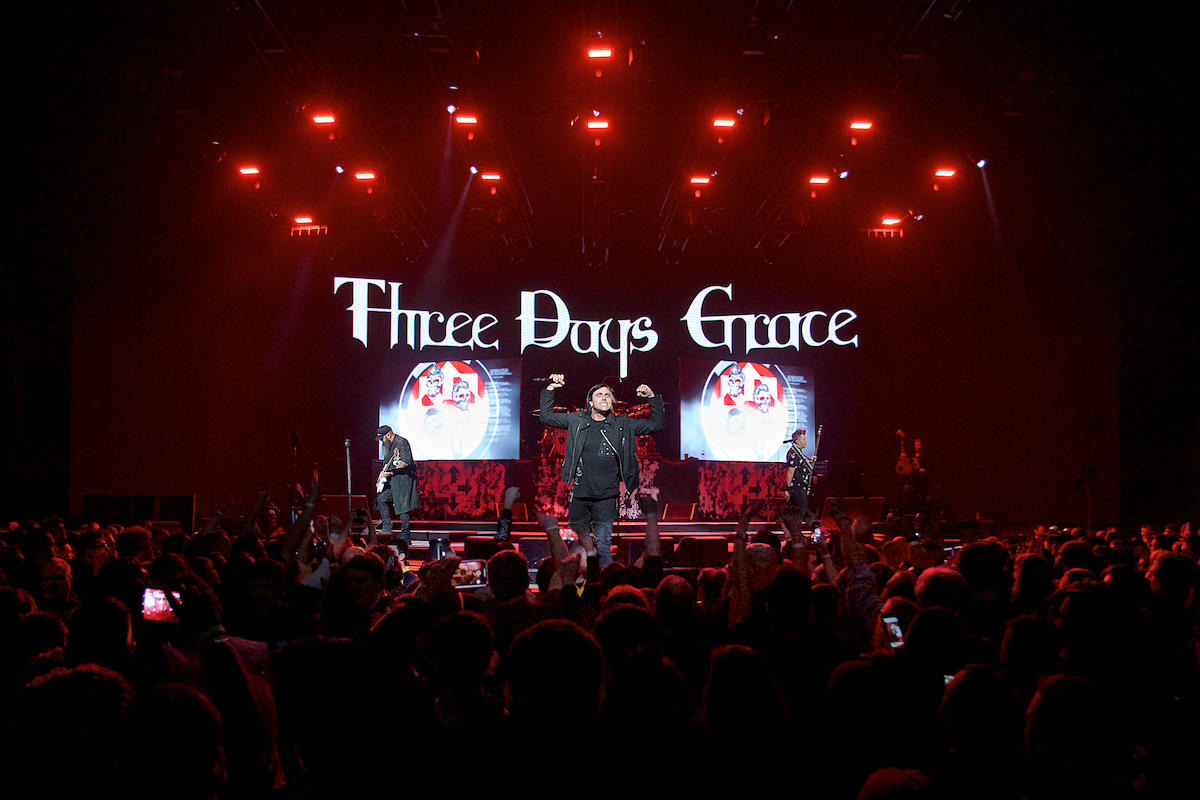 Three Days Grace Wells Fargo Center Philadelphia, Pa February 18, 2019  DerekBrad.com