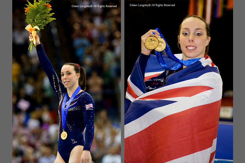 Britain's Beth Tweddle winner of two gold medals at the 2010 European Gymnastics Championships in Birmingham.