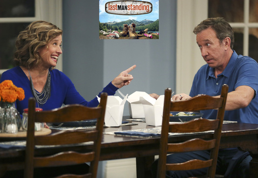 "LAST MAN STANDING - ""The Dad Hat"" - Kristin is surprised that Mike is treating her more like a dad than her boss when she tells him she wants to oversee the opening of the next Outdoor Man Grill restaurant. Meanwhile, Mandy and Kyle hope Ed will want their help in rekindling his relationship with his ex-girlfriend, Wendi, on ""Last Man Standing,"" FRIDAY, NOVEMBER 6 (8:00-8:31 p.m., ET/PT) on the ABC Television Network. (ABC/John Fleenor)