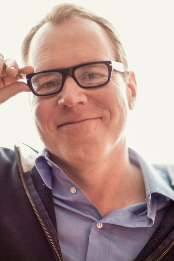 Bret Easton Ellis photographed at home in West Hollywood, CA. 7/29/10