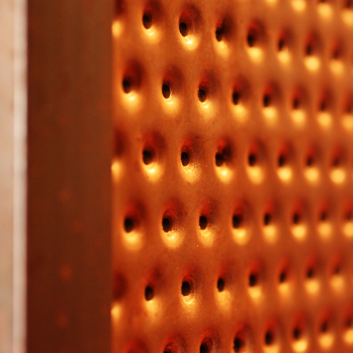 metal punched bar front material