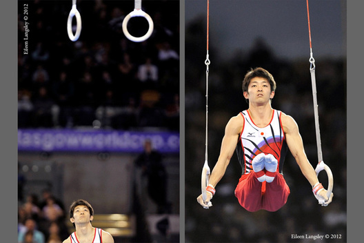 Kazuhito Tanaka (Japan) at the 2012 FIG World Cup in the Emirates Arena