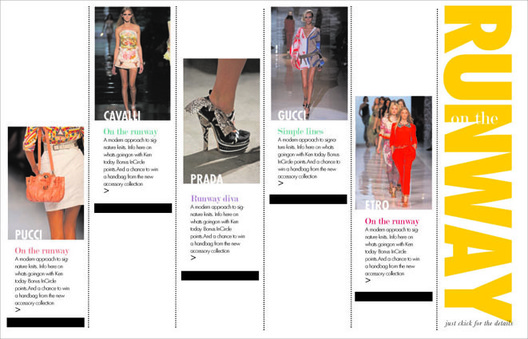 "Editorial content concepts for InSite on NM.com. InSite is a new category silo bringing weekly trend reports, designer's Q/A, spotlight on beauty products, editorial stories from NM ""the book"", event calendar, runway video, etc..
