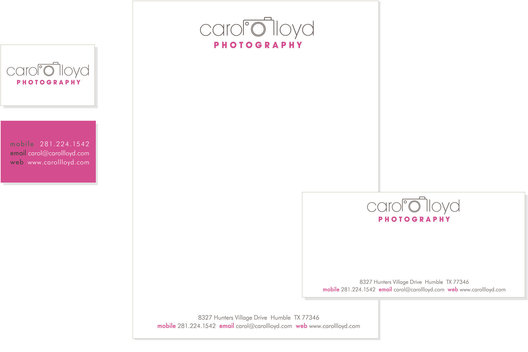 Identity design and stationery for an independent photographer.