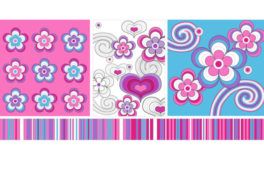 Surface design for a range of Back to School stationery.