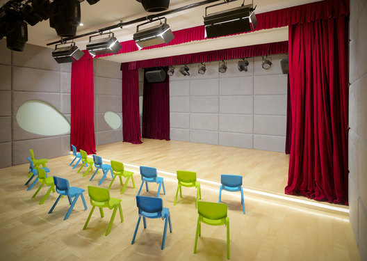 Theatre of ART PLUS I, a Children Performing Art Education Center designed by Singapore-based AND lab in Beijing